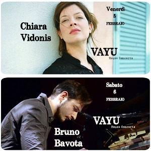 Vayu House Concerts Chiara Vidonis e Bruno Bavota
